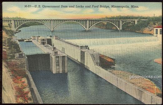 Image for US GOVERNMENT DAM AND LOCKS AND FORD BRIDGE MINNEAPOLIS, MINNESOTA