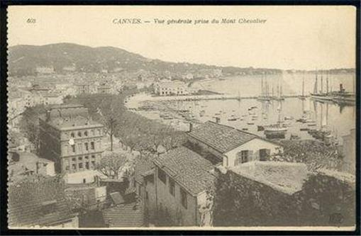 VIEW FROM MONT CHEVALIER CANNES, FRANCE, Postcard