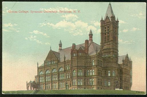CROUSE COLLEGE, SYRACUSE, NEW YORK, Postcard