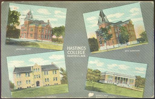 HASTINGS COLLEGE, HASTINGS, NEBRASKA, Postcard