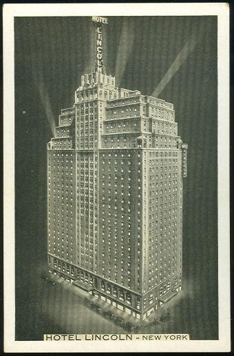 HOTEL LINCOLN, NEW YORK CITY, NEW YORK, Postcard