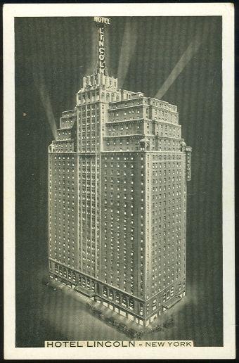 HOTEL LINCOLN, NEW YORK CITY, NEW YORK, Postcard