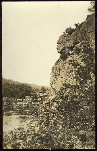 Image for REAL PHOTO POSTCARD OF OLD MAN OF THE DALLES, TAYLOR'S FALLS, MINNESOTA