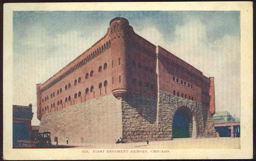 POSTCARD - First Regiment Armory, Chicago, Illinois