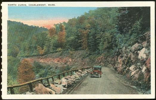 MOHAWK TRAIL, NORTH CURVE CHARLEMONT, MASSACHUSETTS, Postcard