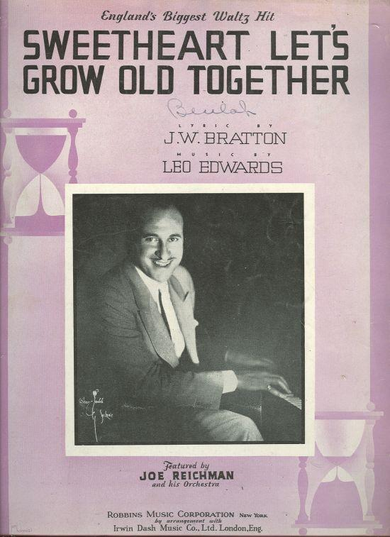 SWEETHEART LET'S GROW OLD TOGETHER, Sheet Music
