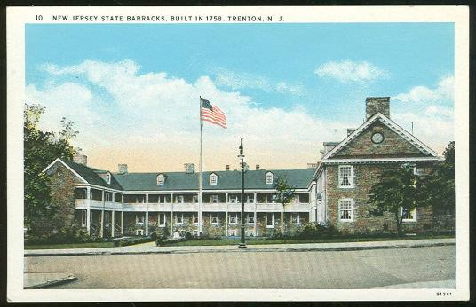 NEW JERSEY STATE BARRACKS, TRENTON NEW JERSEY, Postcard