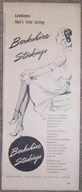 Image for 1944 WORLD WAR II BERKSHIRE STOCKINGS LIFE MAGAZINE ADVERTISEMENT