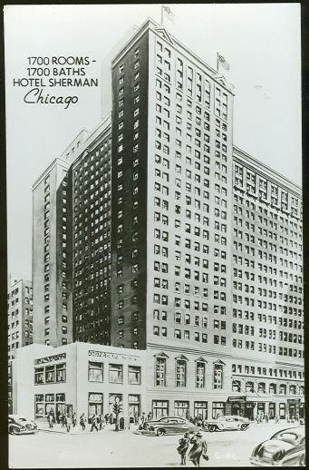 HOTEL SHERMAN, CHICAGO, ILLINOIS, Postcard