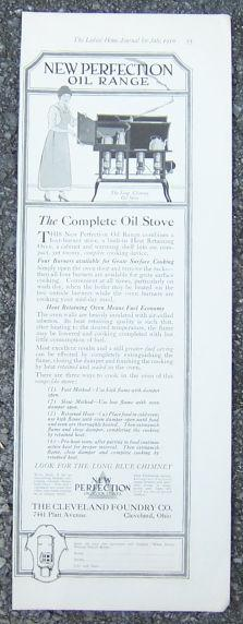 1916 LADIES HOME JOURNAL ADVERTISEMENT FOR NEW PERFECTION OIL RANGE, Advertisement