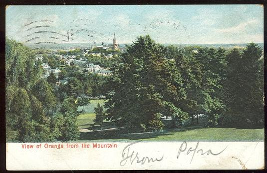 Image for VIEW OF ORANGE, NEW JERSEY FROM MOUNTAIN