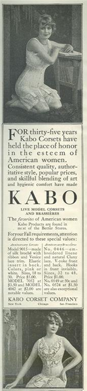 Image for 1916 LADIES HOME JOURNAL KABO LIVE MODEL CORSET MAGAZINE ADVERTISEMENT