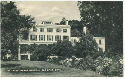 BOXWOOD MANOR GARDENS, OLD LYME, CONNECTICUT, Postcard