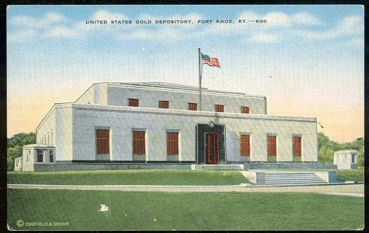 UNITED STATES GOLD DEPOSITORY, FORT KNOX, KENTUCKY, Postcard