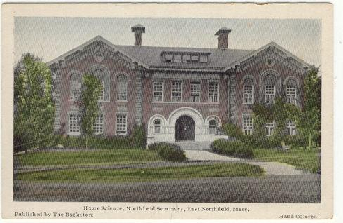 HOME SCIENCE HALL, EAST NORTHFIELD, MASSACHUSETTS, Postcard