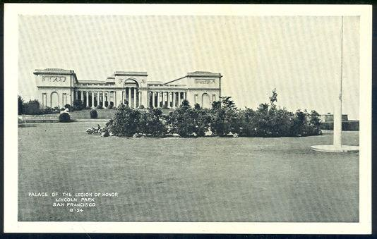 LEGION OF HONOR, LINCOLN PARK, SAN FRANCISCO, CALIFORNIA, Postcard