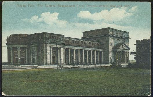 NIAGARA FALLS ELECTRICAL DEVELOPMENT CO. OF ONTARIO, LIMITED, PLANT AND OFFICE, Postcard