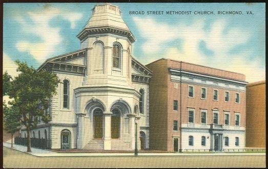 BROAD STREET METHODIST CHURCH, RICHMOND, VIRGINIA, Postcard