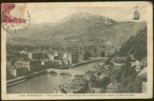 GENERAL VIEW OF GRENOBLE, FRANCE, Postcard