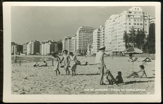 REAL PHOTO POSTCARD OF RIO DE JANEIRO PRAIA DE COPACABANA, Postcard