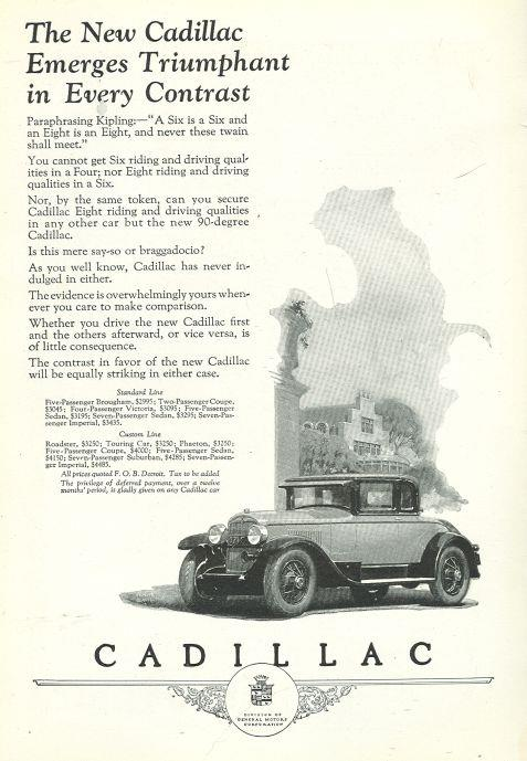 Image for 1925 NATIONAL GEOGRAPHIC CADILLAC EIGHT MAGAZINE ADVERTISEMENT