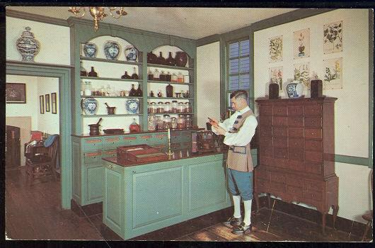 PASTEUR-GALT APOTHECARY SHOP, WILLIAMSBURG, VIRGINIA, Postcard