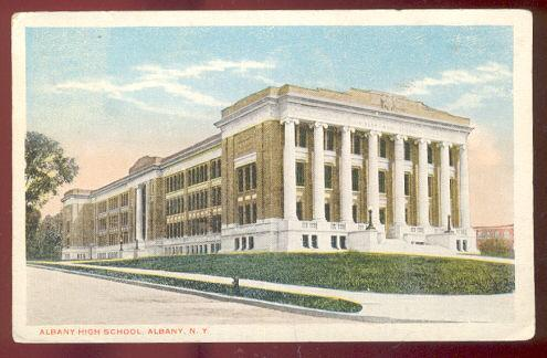 ALBANY HIGH SCHOOL, ALBANY, NEW YORK, Postcard