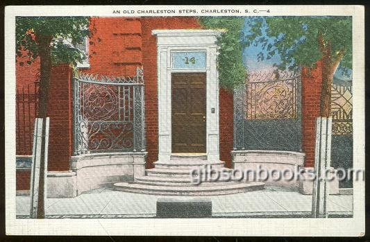 OLD CHARLESTON STEPS, CHARLESTON, SOUTH CAROLINA, Postcard