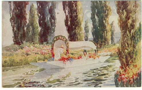 FLOATING GARDENS OF XOCHIMILCO, MEXICO, Postcard