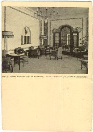 GRAND HOTEL CONTINENTAL IN MUNCHEN, GERMANY, Postcard