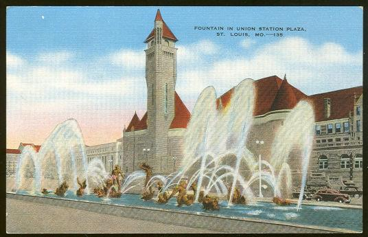 Image for FOUNTAIN IN UNION STATION PLAZA, ST. LOUIS, MISSOURI