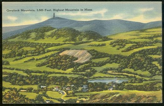 GREYLOCK MOUNTAIN 3,505 FEET HIGHEST IN MASSACHUSETTS, Postcard