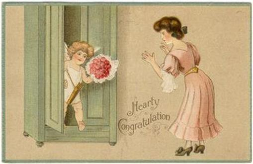 Image for HEARTY CONGRATULATION POSTCARD