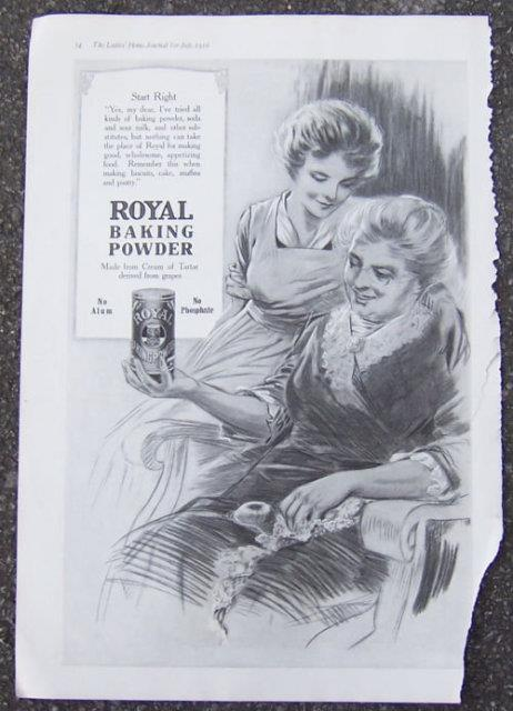 1916 LADIES HOME JOURNAL ROYAL BAKING POWDER MAGAZINE ADVERTISEMENT, Advertisement