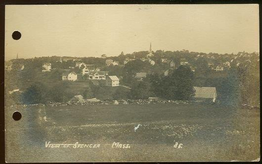 Image for REAL PHOTO POSTCARD OF VIEW OF SPENCER, MASSACHUSETTS