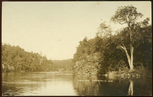 Image for REAL PHOTO POSTCARD OF INDIAN HEAD, TAYLOR'S FALLS, MINNESOTA
