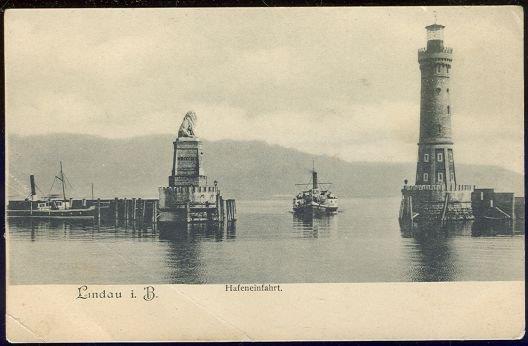 LINDAU IM BODENSEE HAFENEINFAHRT, GERMANY, Postcard