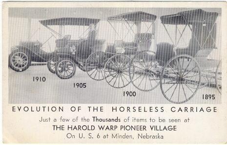 HAROLD WARP PIONEER VILLAGE MINDEN, NEBRASKA, Postcard
