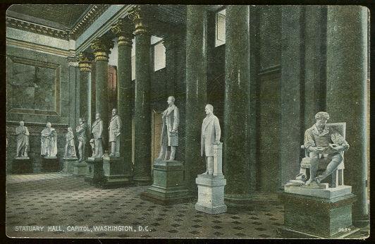 STATUARY HALL, CAPITOL, WASHINGTON, D. C., Postcard