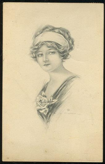 Image for LOVELY VICTORIAN LADY WITH ROSE