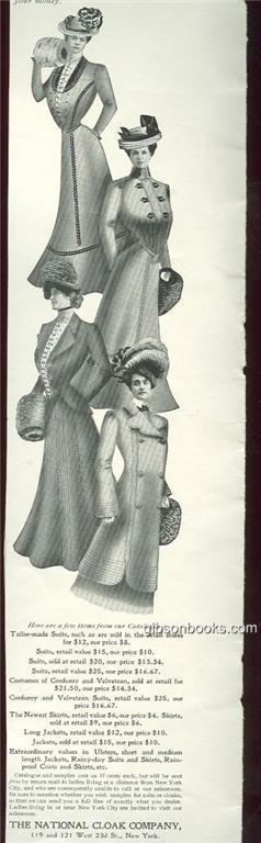 1901 LADIES HOME JOURNAL NATIONAL CLOAK COMPANY MAGAZINE ADVERTISEMENT, Advertisement