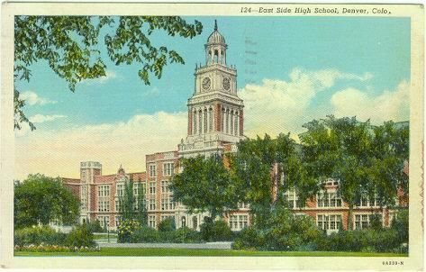 EAST SIDE HIGH SCHOOL, DENVER, COLORADO, Postcard