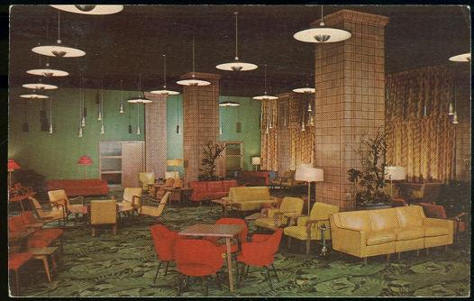 MAIN LOBBY YMCA HOTEL, CHICAGO, ILLINOIS, Postcard