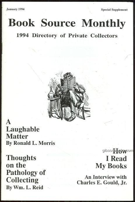 Image for BOOK SOURCE MONTHLY MAGAZINE JANUARY 1994 DIRECTORY OF PRIVATE COLLECTORS