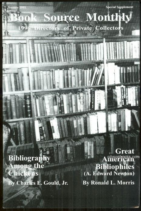 Image for BOOK SOURCE MONTHLY MAGAZINE JANUARY 1995 DIRECTORY OF PRIVATE COLLECTORS Special Supplement
