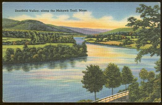 DEERFIELD VALLEY, ALONG THE MOHAWK TRAIL, MASSACHUSETTS, Postcard