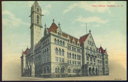 POST OFFICE, BUFFALO, NEW YORK, Postcard