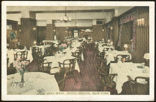 GRILL ROOM, HOTEL BRISTOL, NEW YORK CITY, Postcard