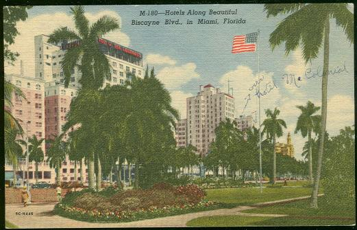 Image for HOTELS ALONG BEAUTIFUL BISCAYNE BLVD., IN MIAMI, FLORIDA