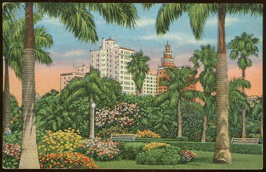 Image for HOTEL ROW AS SEEN FROM BAYFRONT PARK, MIAMI, FLORIDA